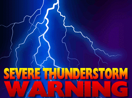Severe Thunderstorm Warning Alert